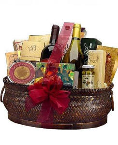Deluxe Gourmet and Wine Basket